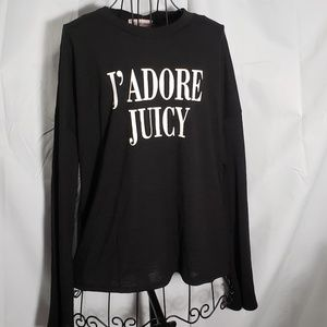 Juicy Couture Black Bell Sleeve Sweater NWT